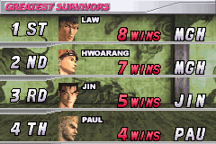 Tekken Advance - 8 wins now - User Screenshot